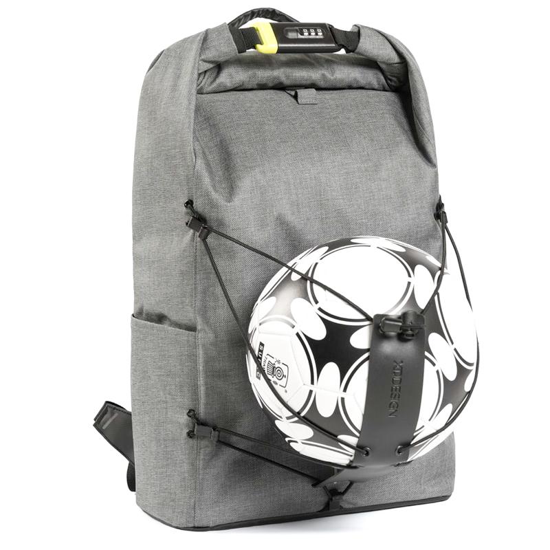 37b25d7ab450 Рюкзак XD Design Bobby Urban Lite с отделением для ноутбука до 15,6 дюйма  антивор серый