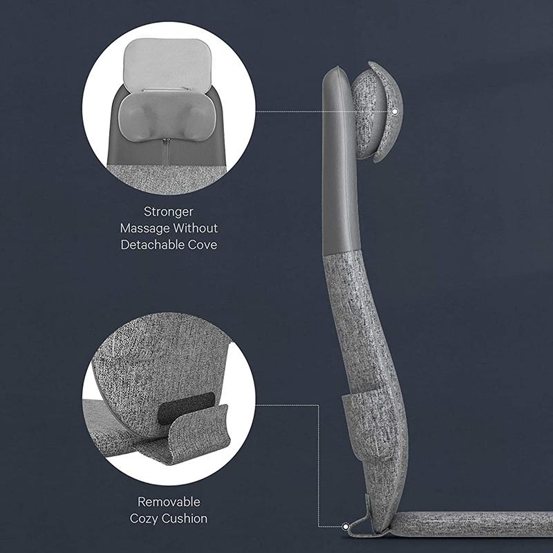 Массажная накидка (массажер) на кресло для спины и шеи Шиацу с подогревом Naipo oCuzen S