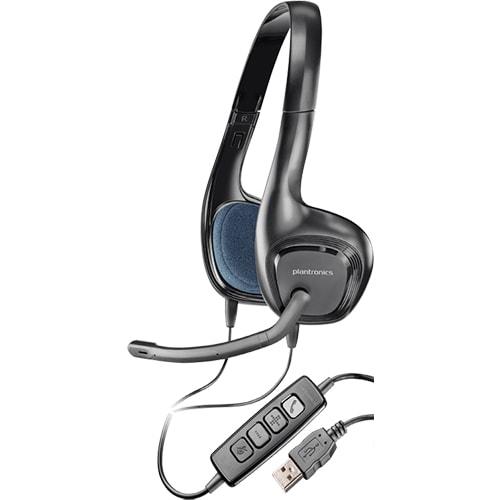 Наушники Plantronics Audio 628 накладные с микрофоном для компьютера в USB  порт 1a6ec7b339109