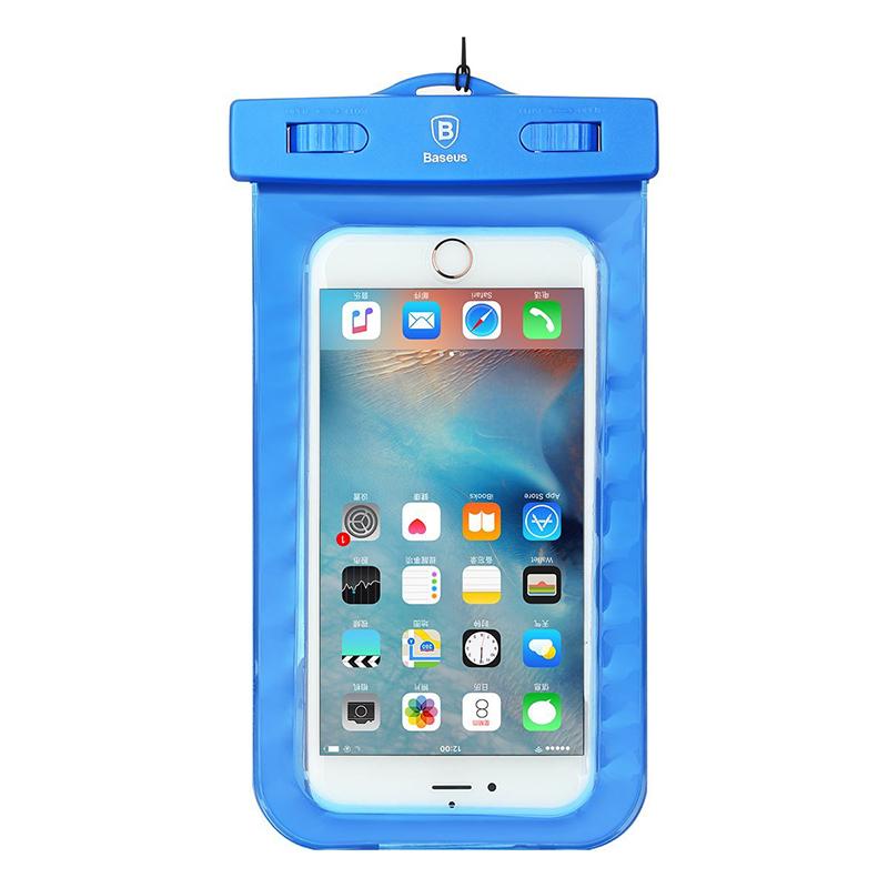 водонепроницаемый чехол для телефона до 55 дюйма Baseus синий