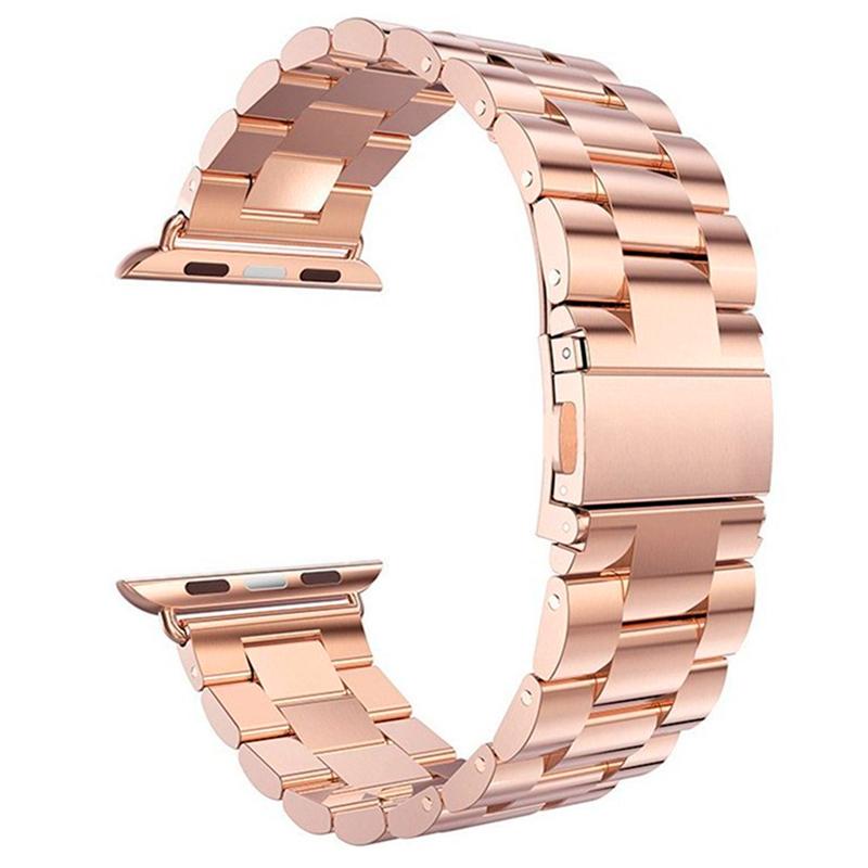 Ремешок-браслет для Apple Watch 42 и 44 мм металлический Nova Metal розовое золото