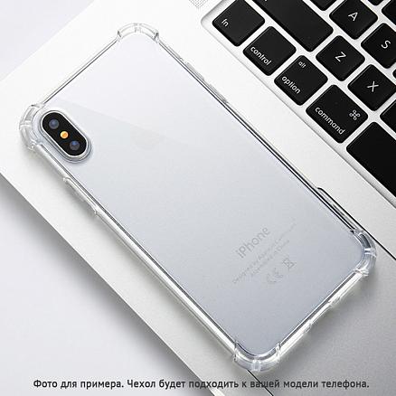 Чехол для iPhone X, XS гелевый с усиленными углами Angle Line прозрачный