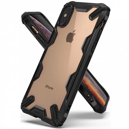 Чехол для iPhone X, XS гибридный Ringke Fusion X черный