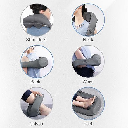 Массажер для шеи, плеч, живота и поясницы Шиацу с подогревом Naipo oCuddle Plus