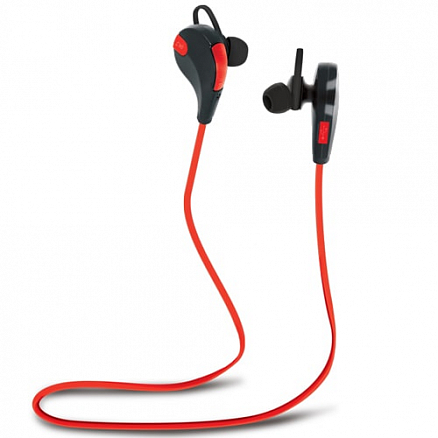 Наушники беспроводные Bluetooth Forever BSH-100 вакуумные с микрофоном для спорта черно-красные