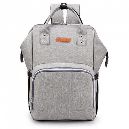 005af0f8aaa6 Рюкзак (сумка) Ankommling LD24 для мамы с отделением для бутылочек и USB- портом серый