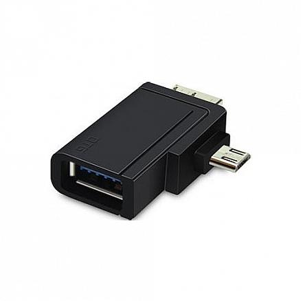 Переходник MicroUSB, Micro B 3.0 - USB 3.0 хост OTG Unitek Y-A021BK